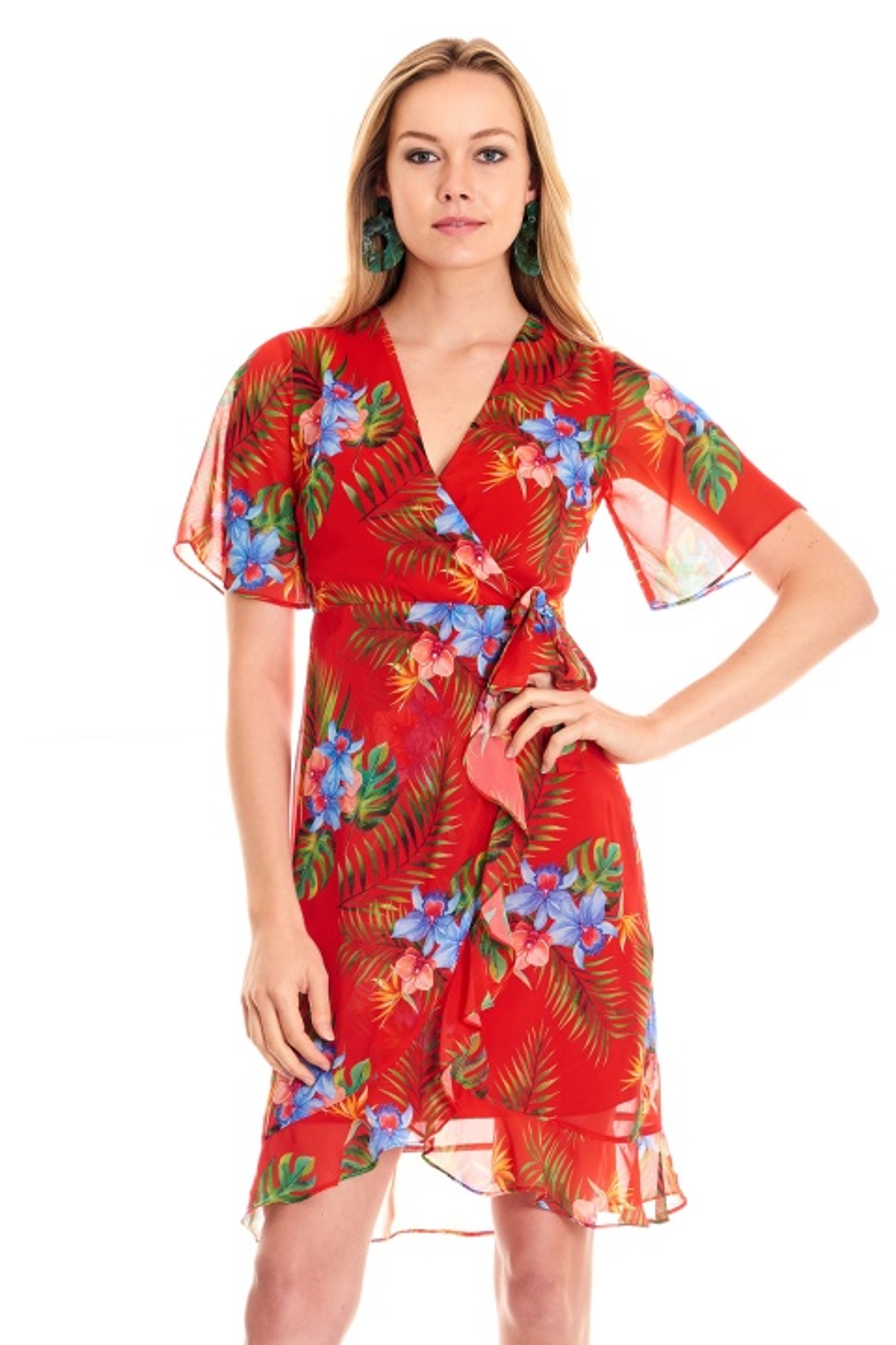 776e282271844 Mi Kolu Fırfırlı Elbise Mi Kolu Fırfırlı Elbise